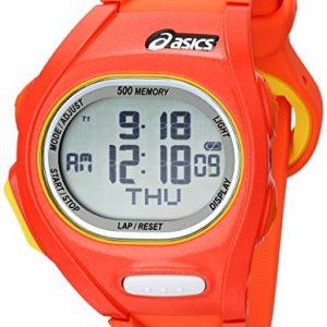 Asics-ASICS-DIGITAL-SPORTSWATCH-ELITE-S-CQAR0107-Reloj-digital-de-cuarzo-unisex-correa-de-plstico-color-naranja-alarma-cronmetro-registro-de-vueltas-luz-0