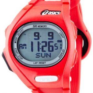 Asics-CQAR0110-Reloj-con-correa-de-acero-para-hombre-color-rojo-gris-0