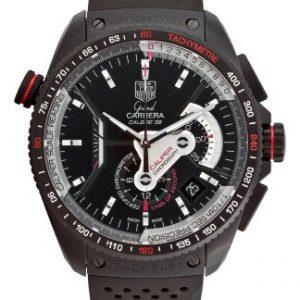 Black-Anodized-Titanium-Grand-Carrera-Chronometer-Rubber-Strap-0