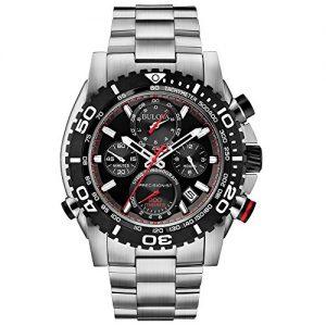 Bulova-98B212-Reloj-de-Cuarzo-para-Hombre-correa-de-Acero-inoxidable-color-Negro-0