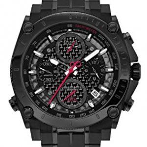 Bulova-98G257-Reloj-analgico-de-cuarzo-para-hombres-correa-de-acero-inoxidable-color-negro-0