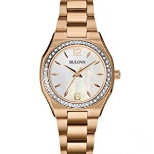 Bulova-98R205-Reloj-correa-de-acero-inoxidable-color-oro-rosa-0