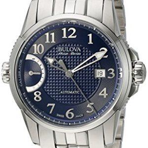 Bulova-Accu-Swiss-63B175-Reloj-correa-de-acero-inoxidable-color-plateado-0