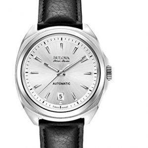 Bulova-Accu-Swiss-63B184-Reloj-correa-de-cuero-color-negro-0