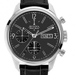 Bulova-Accu-Swiss-63C115-Reloj-correa-de-cuero-color-negro-0