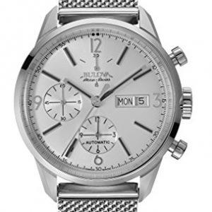 Bulova-Accu-Swiss-63C116-Reloj-correa-de-acero-inoxidable-color-plateado-0