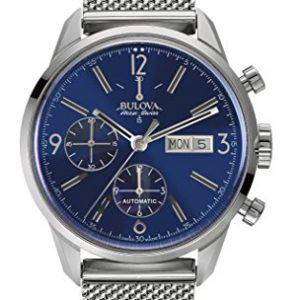 Bulova-Accu-Swiss-63C117-Reloj-correa-de-acero-inoxidable-color-plateado-0