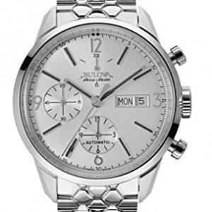 Bulova-Accu-Swiss-63C118-Reloj-para-hombres-correa-de-acero-inoxidable-color-plateado-0