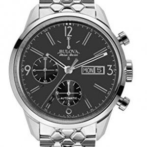 Bulova-Accu-Swiss-63C119-Reloj-correa-de-acero-inoxidable-color-plateado-0