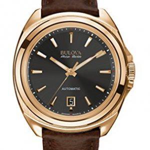 Bulova-Accu-Swiss-64B126-Reloj-correa-de-cuero-color-marrn-0