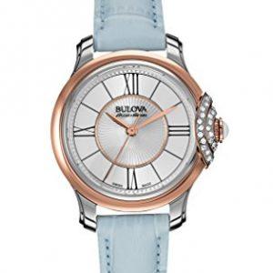 Bulova-Accu-Swiss-65R158-Reloj-correa-de-cuero-color-azul-0
