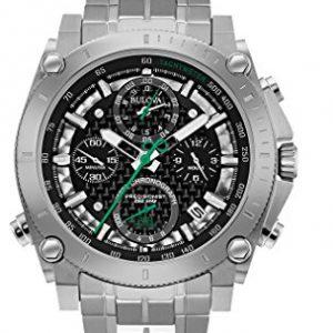 Bulova-Precisionist-Crongrafo-Hombre-UHF-Reloj-de-mujer-con-esfera-de-color-negro-y-plateado-pulsera-de-acero-inoxidable-0