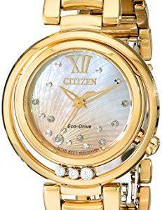 Citizen-EM0322-53Y-Reloj-para-mujeres-correa-de-acero-inoxidable-color-dorado-0