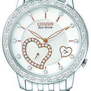 Citizen-EV1000-58A-Reloj-analgico-para-mujer-correa-de-acero-inoxidable-color-plateado-0