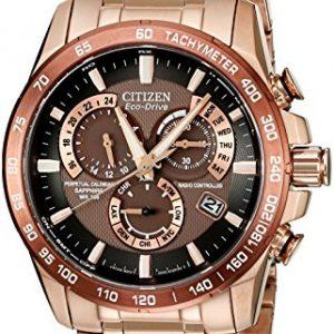 Citizen-Watch-AT4106-52X-Reloj-analgico-de-cuarzo-para-hombre-correa-de-acero-inoxidable-chapado-en-oro-rosa-color-oro-rosa-0