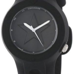Converse-VR001-001-Reloj-unisex-de-cuarzo-correa-de-silicona-color-negro-0