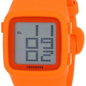Converse-VR002-800-Reloj-unisex-con-correa-de-caucho-color-naranja-gris-0