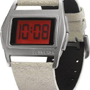 Converse-VR005-150-Reloj-unisex-de-cuarzo-correa-de-piel-color-blanco-0