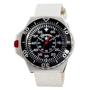 Converse-VR008-150-Reloj-unisex-de-cuarzo-correa-de-piel-color-blanco-0