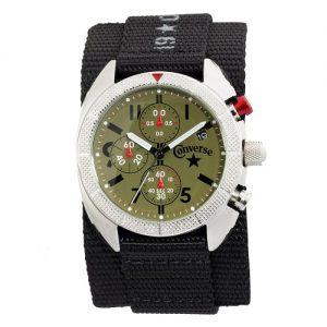 Converse-VR010-001-Reloj-unisex-de-cuarzo-correa-de-textil-color-negro-0