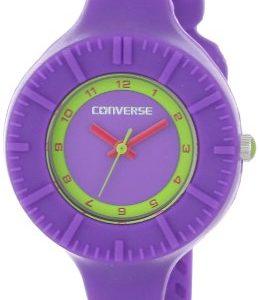 Converse-VR023-505-Reloj-analgico-de-cuarzo-para-mujer-correa-de-silicona-color-morado-0
