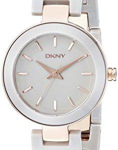 DKNY-ny2356-28-mm-de-acero-inoxidable-Color-Gris-Cermica-Mineral-Reloj-de-mujer-0