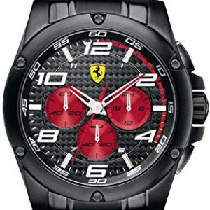 Ferrari-0830037-Reloj-para-hombres-correa-de-acero-inoxidable-color-negro-0