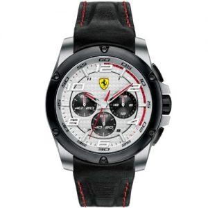Ferrari-830031-Reloj-analgico-de-cuarzo-para-hombre-correa-de-cuero-color-negro-cronmetro-0