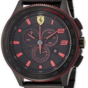 Ferrari-830142-Reloj-de-pulsera-hombre-acero-inoxidable-color-negro-0