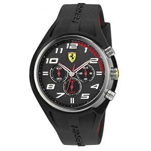 Ferrari-De-los-hombres-Scuderia-Sport-Chrono-Analgico-Dress-Cuarzo-Reloj-0830147-0