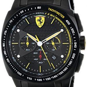 Ferrari-De-los-hombres-Scuderia-Sport-Chrono-Analgico-Dress-Cuarzo-Reloj-0830162-0