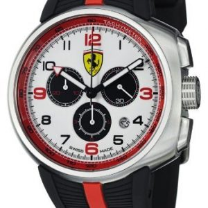 Ferrari-Hombres-F1-Fast-Lap-Crongrafo-Esfera-Blanca-Caucho-Negro-0