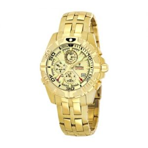 Festina-Chronobike-F161194-Reloj-crongrafo-de-cuarzo-para-hombre-correa-de-acero-inoxidable-color-dorado-alarma-0