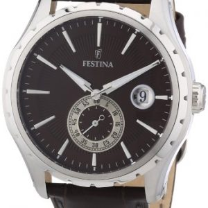 Festina-F164867-Reloj-analgico-de-cuarzo-para-hombre-con-correa-de-piel-color-marrn-0
