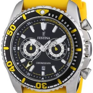 Festina-F165741-Reloj-crongrafo-de-cuarzo-para-hombre-con-correa-de-caucho-color-amarillo-0