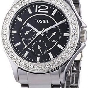 Fossil-Riley-Keramik-Multifunction-CE1067-Reloj-de-cuarzo-para-mujer-correa-de-cermica-color-plateado-agujas-luminiscentes-0