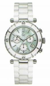 Gc-Guess-Collection-Diver-Chic-Chrono-Reloj-de-cuarzo-para-mujer-con-correa-de-cermica-color-blanco-0