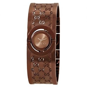 Gucci-YA112532-Reloj-de-pulsera-mujer-acero-inoxidable-color-marrn-0