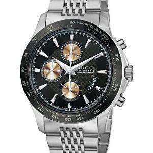 Gucci-YA126214-Reloj-de-automtico-para-hombre-con-correa-de-acero-inoxidable-color-plateado-0