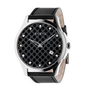 Gucci-YA126305-Reloj-de-cuarzo-para-mujer-con-correa-de-cuero-color-negro-0