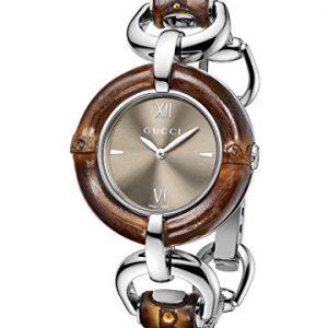 Gucci-YA132402-Reloj-de-mujer-color-marrn-y-plateado-0