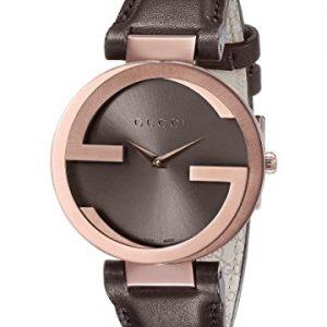 Gucci-YA133309-Reloj-de-cuarzo-para-mujer-con-correa-de-cuero-color-marrn-0