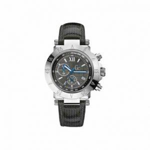 Guess-47001G2-Reloj-analgico-de-caballero-de-cuarzo-con-correa-de-piel-negra-cronmetro-sumergible-a-100-metros-0
