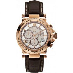 Guess-X44001G1-Reloj-para-hombres-correa-de-cuero-color-marrn-0