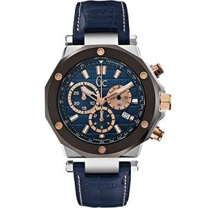 Guess-X72025G7S-Reloj-para-hombres-correa-de-cuero-color-azul-0