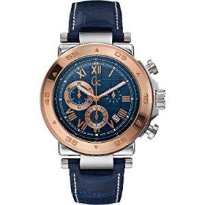 Guess-X90015G7S-Reloj-para-hombres-correa-de-cuero-color-azul-0