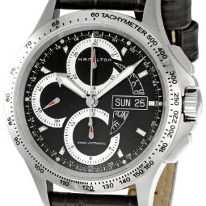 Hamilton-H64616731-Reloj-crongrafo-de-caballero-automtico-con-correa-de-piel-negra-cronmetro-0-2