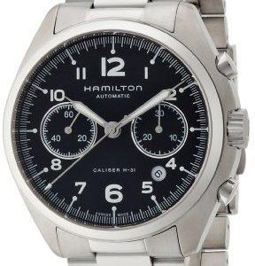 Hamilton-de-color-caqui-Aviacin-de-los-hombres-Casual-Reloj-De-Acero-Inoxidable-automtico-suizo-color-silver-toned-modelo-H76416135-0-2