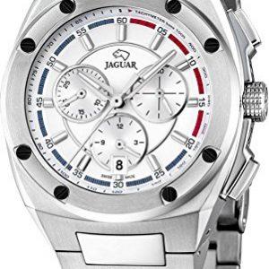 JAGUAR-J805-1-Reloj-crongrafo-de-caballero-de-cuarzo-esfera-gris-blanco-armys-de-acero-inoxidable-0