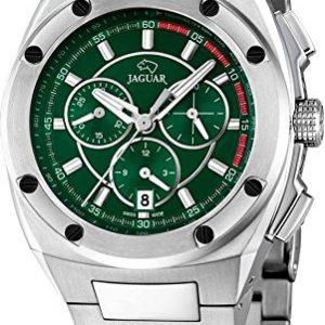 JAGUAR-J805-2-Reloj-crongrafo-de-caballero-de-cuarzo-esfera-negro-y-verde-armys-acero-inoxidable-0